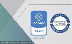 Certificación NTC ISO 9001:2015 ICONTEC